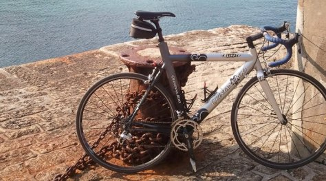 Bicycle by the ocean
