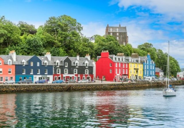 Tobermory, the largest settlement on the Isle of Mull.