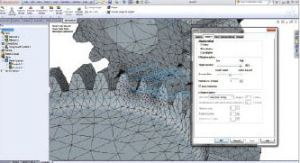 An adaptive mesh from SolidWorks. Image from Desktop Engineering.