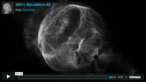 Different Ways to Infinity, Simulation #2. Click image for video.
