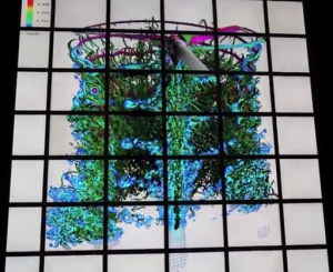 Screen capture from a video demo of NASA's Hyperwall 2.
