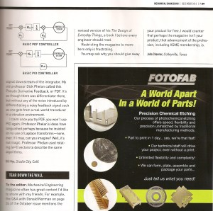 Mechanical Engineering magazine, December 2013 issue, page 9