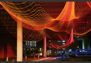 Janet Echelman, Line Drawing, 2006-2007. (Image from echelman.com. See link above.)