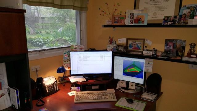 Erick's current workspace.