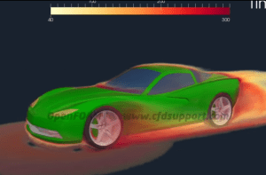 The folks at CFD Support have been working on transient simulation of a sports car with rotating wheels in OpenFOAM. Click image for web page and video.