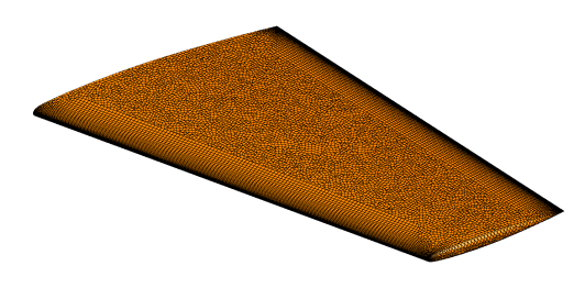 Unstructured mixed-cell surface mesh