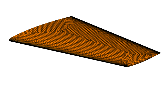 quad-dominant surface mesh