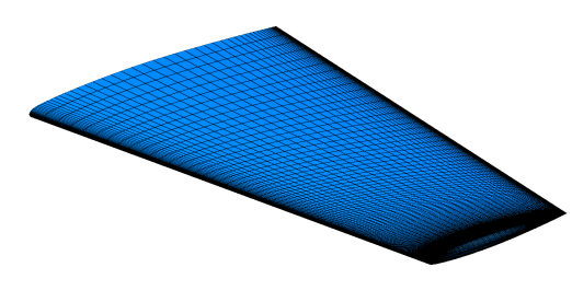Multi-block structured surface mesh