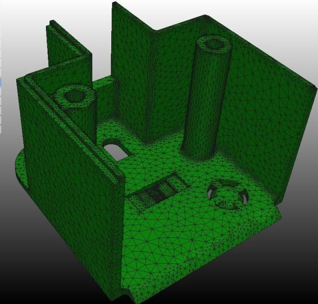 A mesh from Autodesk's Project Harmony for Simulation Moldflow. Image from Autodesk. See link above.