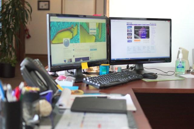Brenna's current workspace.