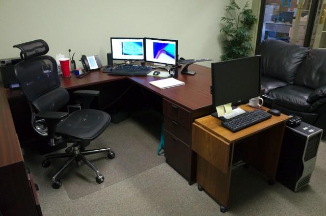 Carolyn's current workspace.