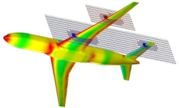 Example of a multi-level uniform mesh around an aircraft from FloEFD. Image from Engineering.com. See link above.