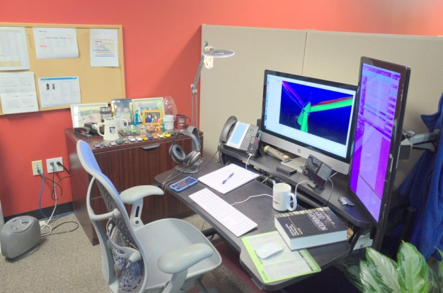 Michael's current workspace.