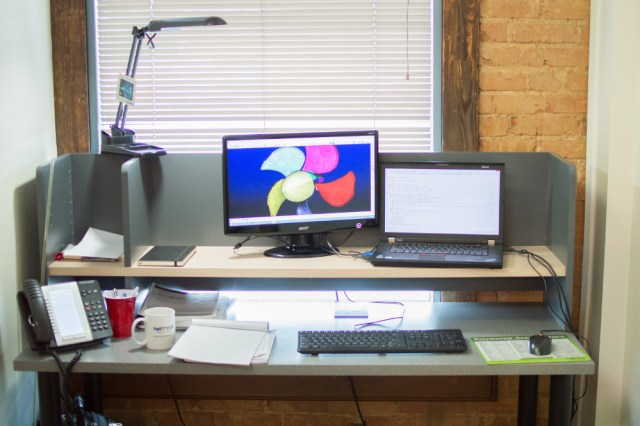 Rajib's current workspace.