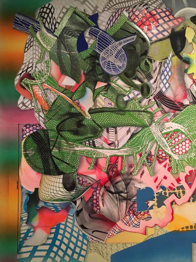Frank Stella, close-up detail. (I forgot the name of the work.)
