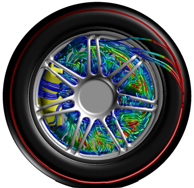 Garry Rogers Motorsport is using Pointwise and Caelus to model the aerodynamic performance of their S60 V8 Supercar, including brake cooling as shown here. Click image for article.