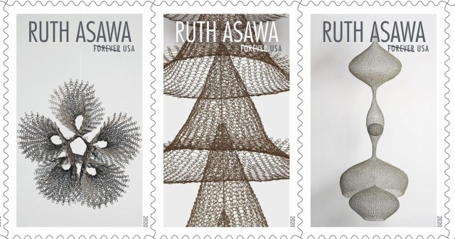 Ruth-Asawa-mesh-stamps