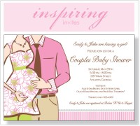 Couples Baby Shower: Expecting Girl Invitation