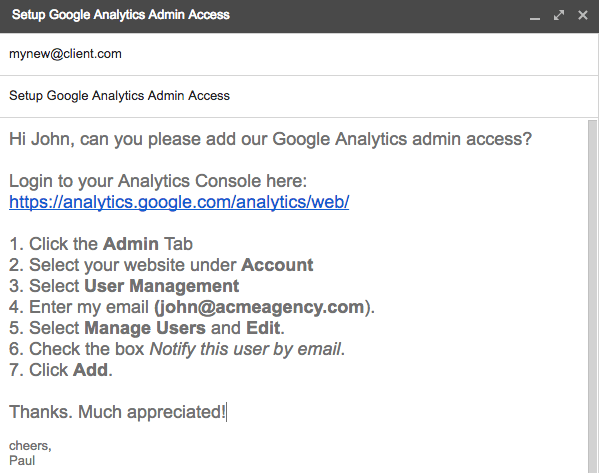 Google Analytics Admin Access What39s best practice for Ad