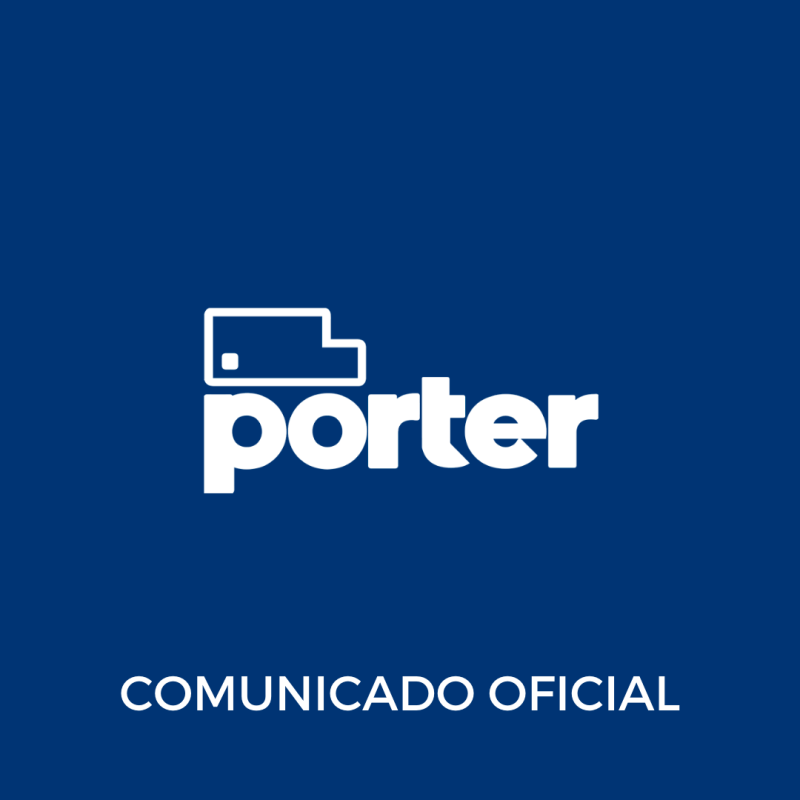 Comunicado oficial porter delivery