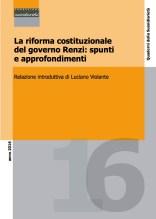 La riforma costituzionale del governo Renzi: spunti e approfondimenti