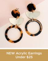 New Acrylic Earrings Under 25