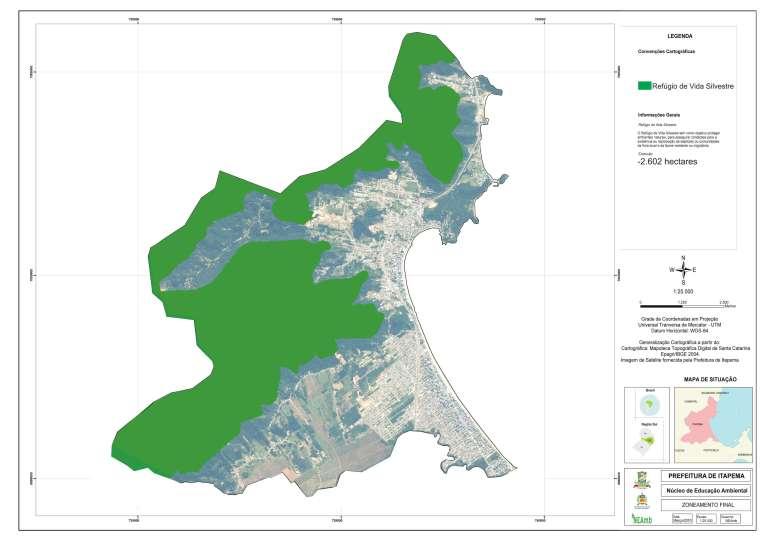 mapa do zoneamento em itapema