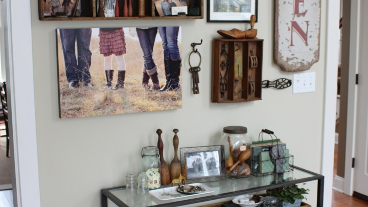 1cTanner Console Table Vignette and Gallery Wall for Pottery Barn