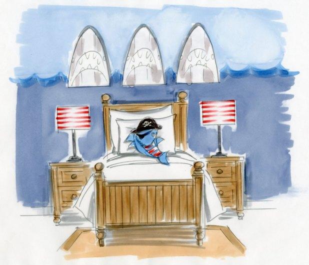 SharkBedroom