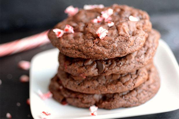 Peppermint-fudgecookies