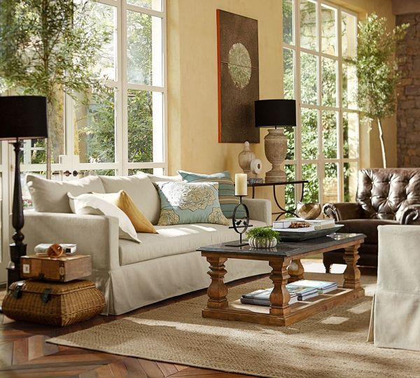 Pottery Barn Living Rooms Colors