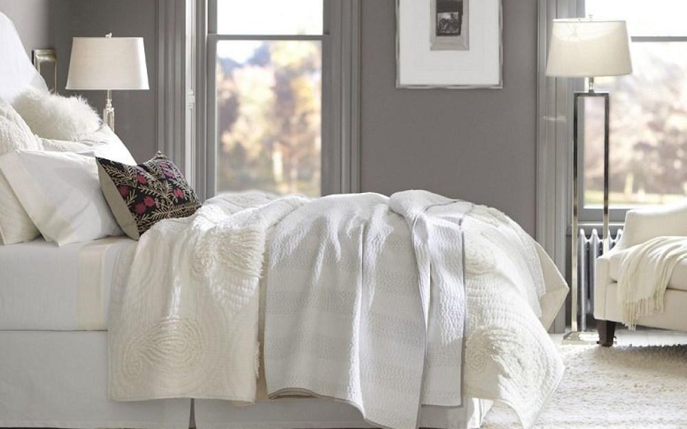 all white bedding header