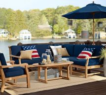 Red White and Blue Living Room Pottery Barn