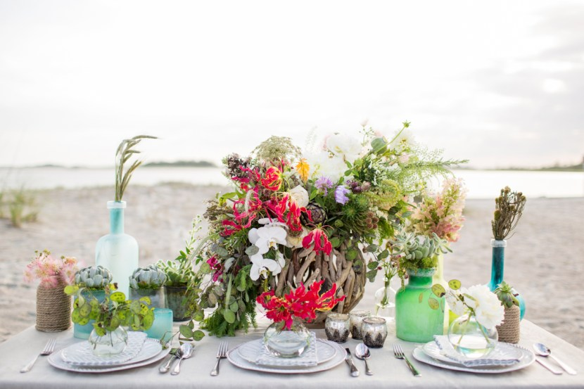 Seashore & Succulent Tablescape Inspiration