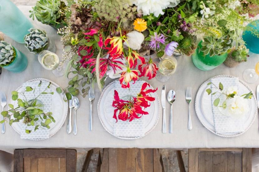 Seashore & Succulent Tablescape Inspiration
