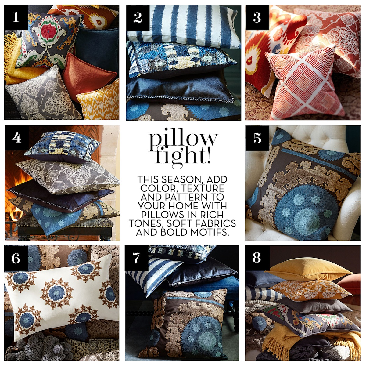 Pillow Fight Add Color To Your Home With Vibrant Throw