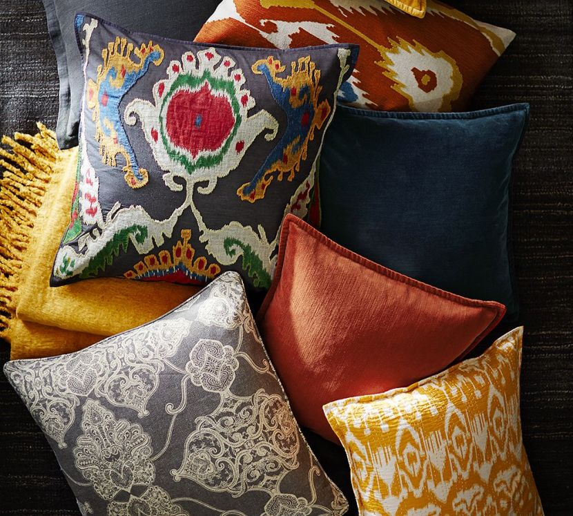 Pottery Barn Printed And Patterned Pillows