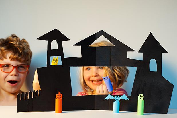 Set A Spooky Scene A Diy Halloween Puppet Theater