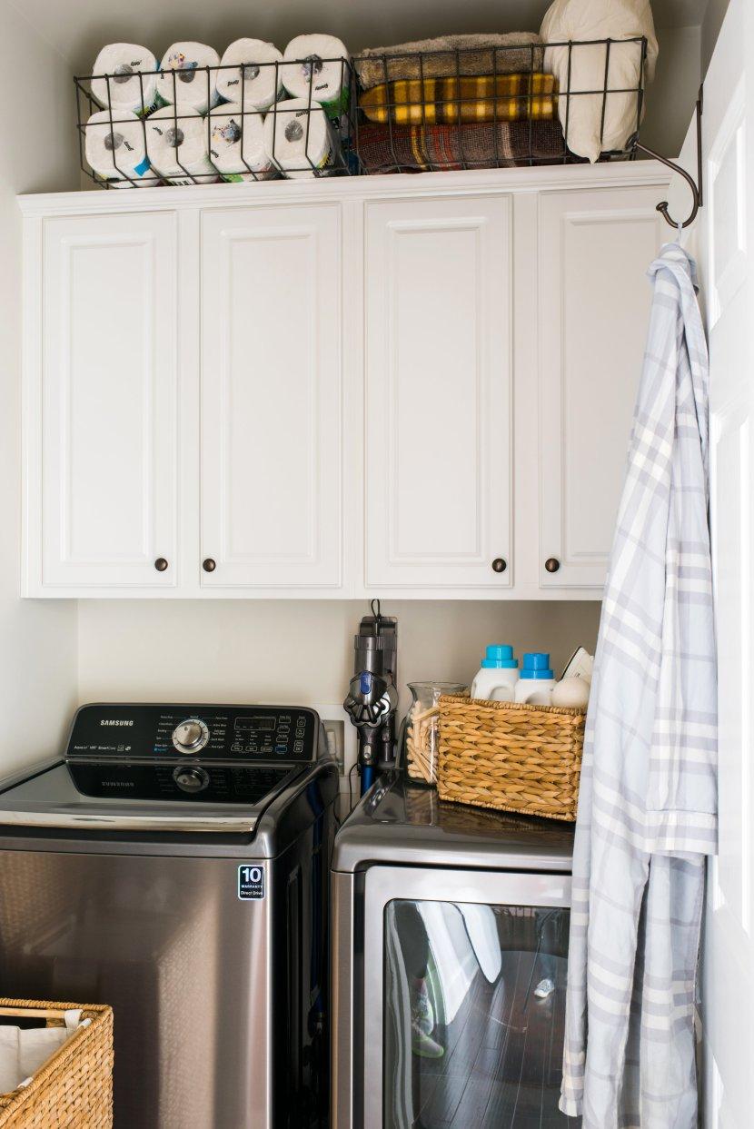 tiny laundry room makeover. Black Bedroom Furniture Sets. Home Design Ideas