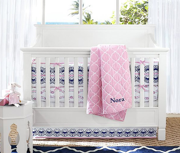 A Navy and Pink Nursery | 8 Nursery Trends for the New Year