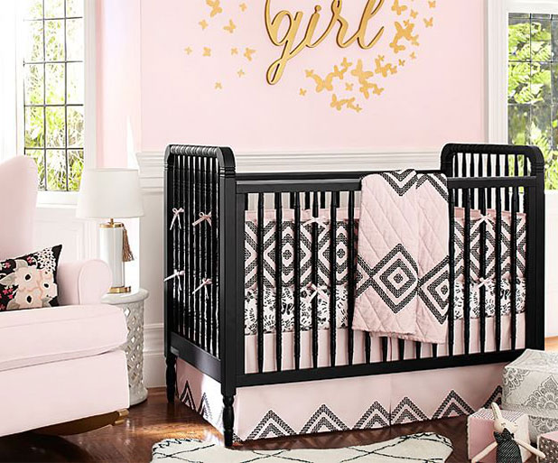 A Dramatic Pink and Black Nursery | 8 Nursery Trends for the New Year