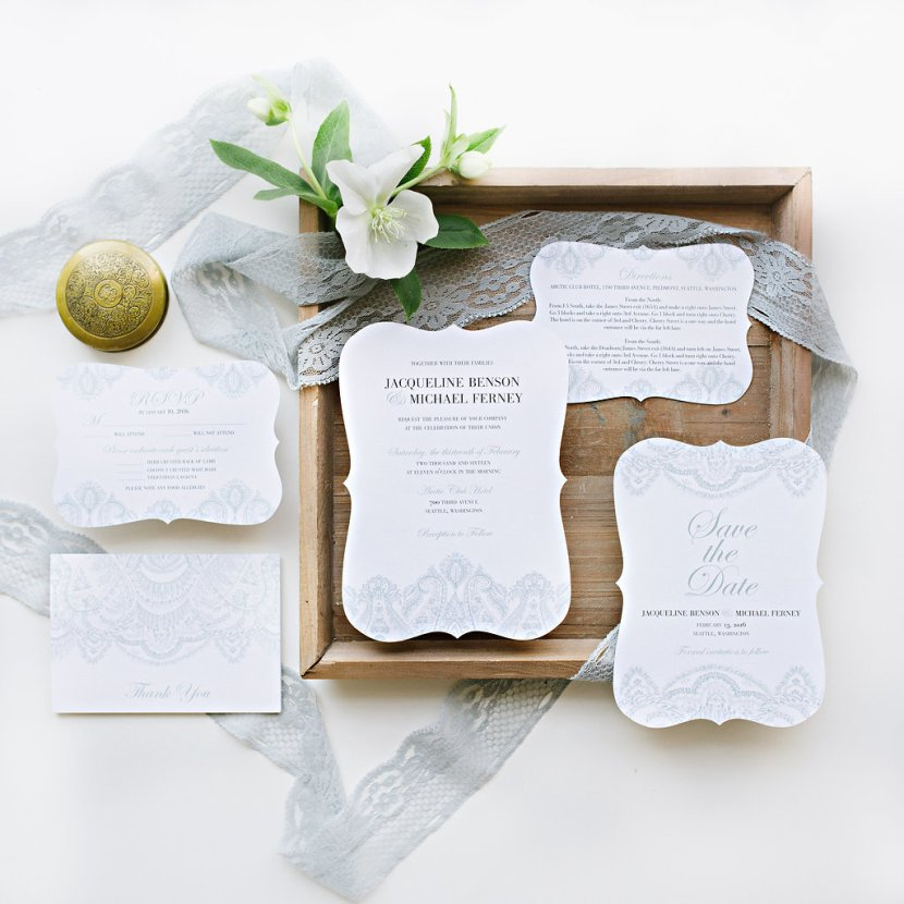 Wedding Paper Divas & Pottery Barn Traditional Lace