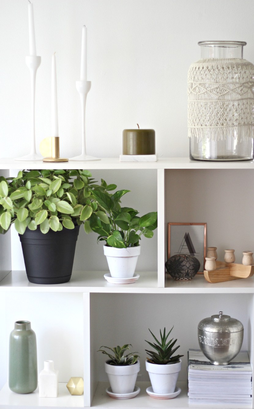 Spring Decorating Bookshelf Display Tips From Simply Grove