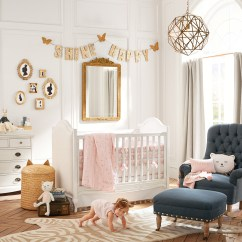 Pottery Barn Baby Rocking Chair Dining Room Manufacturers Pink And Gold Nursery