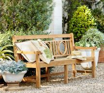 Pottery Barn Outdoor Bench
