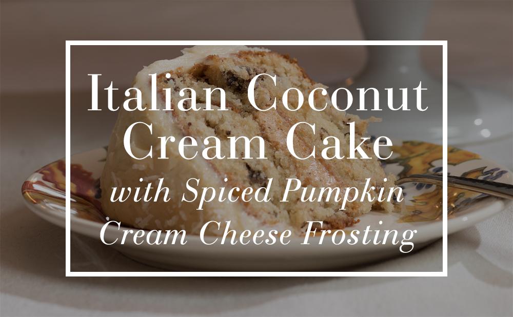 Italian Coconut Cream Cake Cream Cheese Frosting Pottery Barn
