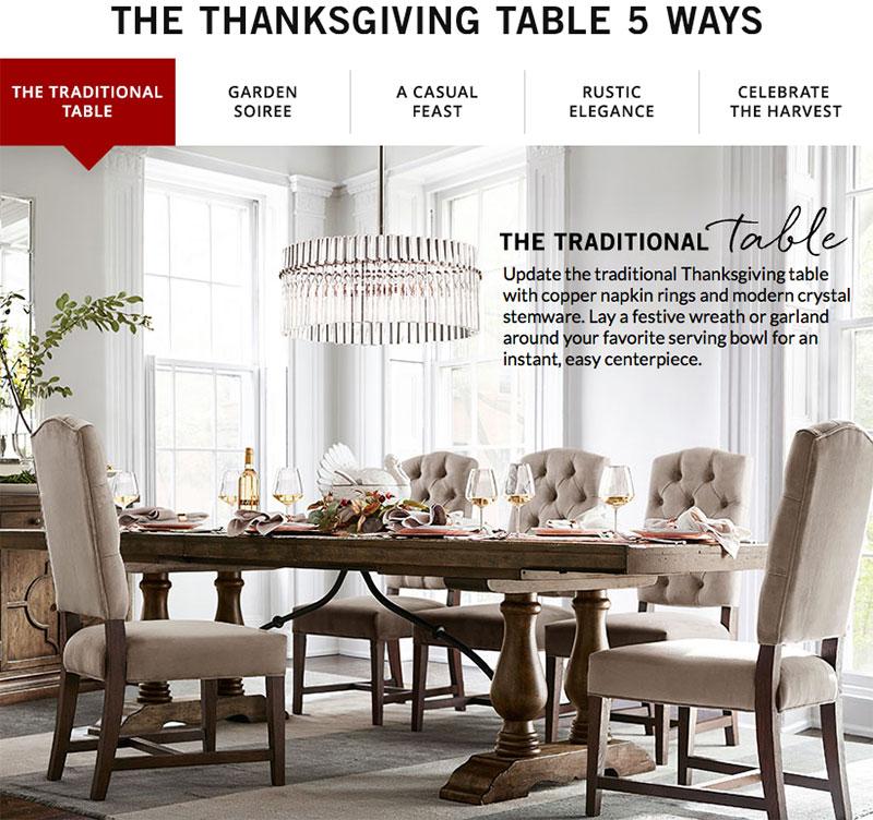 Thanksgiving Table 5 Ways