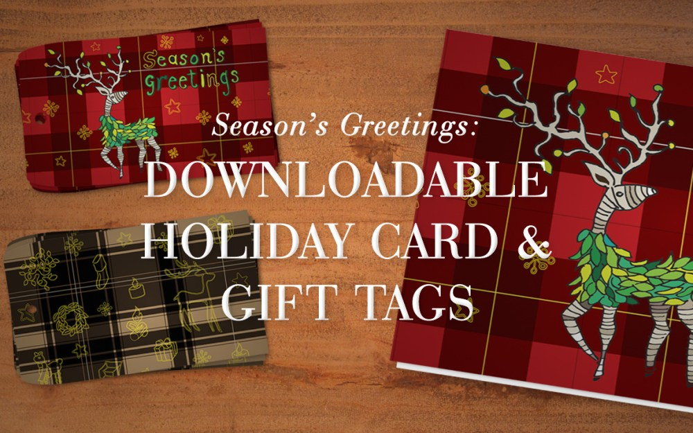 Season's Greetings: Downloadable Gift Tags & Card by George McCalman