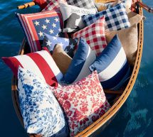 Pottery Barn Floral Outdoor Pillows