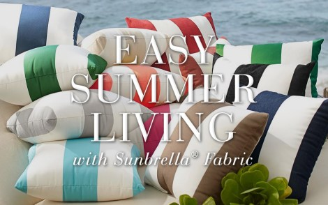 Easy Summer Living with Sunbrella Fabrics